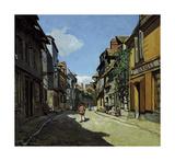Rue de la Bavole, Honfleur, c.1864 Premium Giclee Print by Claude Monet