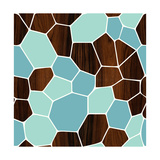Geode Blue Giclee Print by  jefdesigns
