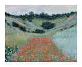 Poppy Field in a Hollow Near Giverny, 1885 Premium Giclee-trykk av Claude Monet