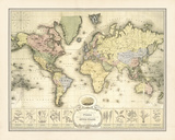 World Spice Trade Map Giclee Print by  The Vintage Collection