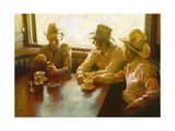 Caffeine, Nicotine, and Cowboys Giclee Print by John Asaro