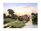 Old Mill Bluestone Giclee Print by Max Hayslette