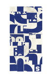 Collaged Letters Blue F Prints by JB Hall