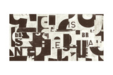 Collaged Letters Cocoa B Prints by JB Hall