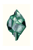 Faceted Gem Emerald Prints by Natasha Marie