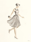Flapper Fashion - Dotty Print by Deborah Pearce
