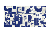 Collaged Letters Blue B Prints by JB Hall