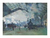 Arrival of the Normandy Train, Gare Saint-Lazare, 1877 Premium Giclee Print by Claude Monet
