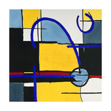 Composition Square 1 Premium Giclee Print by Lee Crew