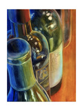 Blue Bottles Giclee Print by Terri Hill