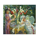 Easter Lilies Premium Giclee Print by John Asaro