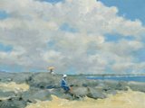 Rocks at Compo Beach Giclee Print by Andre Gisson