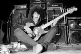 Phil Lynott of Thin Lizzy During a Recording Session for the Groups New Album. Photographic Print by Andy Hosie