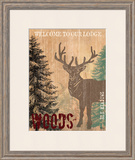 Welcome to Our Lodge Art by Bee Sturgis