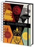 Game of Thrones - Sigils A5 Notebook Muistikirja