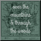 Over the Mountains & Through the Woods - 1881, Yellowstone National Park 1881 Map Mounted Print