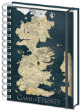 Game of Thrones - Westeros Map A5 Notebook Journal intime & Carnet