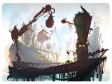Ratchet And Clank: All 4 One - Environment Concept Art Poster