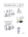 Primary Day in N.Y. - Cartoon Premium Giclee Print by David Sipress