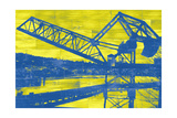 Ballard Train Trestle - Blue and Yellow Prints by  Paperplate Inc.