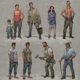 Last of Us: Concept Art - Character Group Art Prints