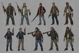 Last of Us: Concept Art - Character Group Art Poster