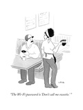 """The Wi-Fi password is 'Don't call me sweetie.' "" - New Yorker Cartoon Premium Giclee Print by Emily Flake"