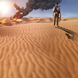 Uncharted 3: Drake's Deception - Key Art of the Crash Site Print