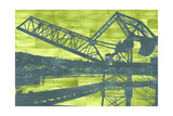 Ballard Train Trestle - Blue and Green Posters by  Paperplate Inc.