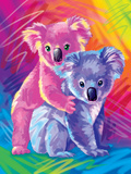 Brushstroke Koalas Print by Lisa Frank
