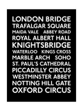 London Transport Bus Blind Giclee Print by  Transport for London