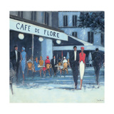 Cafe de Flore, Paris Giclee Print by Jon Barker