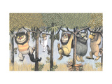 Let the Wild Rumpus Start II Giclee Print by Maurice Sendak