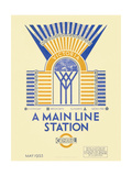 A Main Line Station Giclee Print by  Transport for London