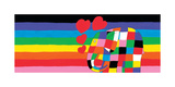 Elmer, Rainbow Giclee Print by David Mckee