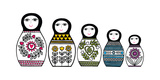 Russian Dolls Giclee Print by Jane Foster