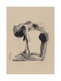 Camel Pose Giclee Print by Hazel Bowman