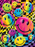 Brushstroke Smileys Posters by Lisa Frank