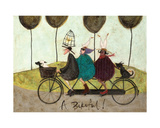 A Bikeful! Giclee Print by Sam Toft