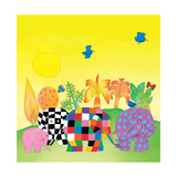 Elmer Sunshine Giclee Print by David Mckee