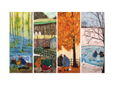 Which is Your Favourite Season Giclee Print by Sam Toft