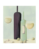 Wine And Grapes Giclee Print by Nicola Evans