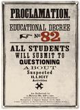 Harry Potter - Decree 82 Plaque en métal