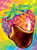 Brushstroke Strawberry Prints by Lisa Frank