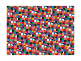 Elmer, Pattern Giclee Print by David Mckee