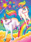 Brushstroke Unicorns Poster by Lisa Frank