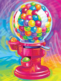 Brushstroke Gumball Prints by Lisa Frank