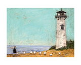 Seven Sisters And A Lighthouse Giclee Print by Sam Toft