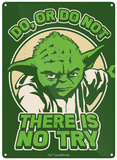 Star Wars, La Guerre des étoiles - Yoda (Poster, Film, Saga, Science-Fiction) Plaque en métal