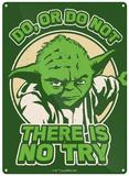 Star Wars - Yoda - Metal Tabela